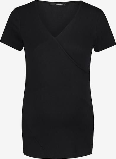 Supermom Shirt 'Crossed Rib' in Zwart ejfaEX90