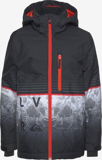 QUIKSILVER Skijacke in dunkelorange / schwarz / weiß, Produktansicht