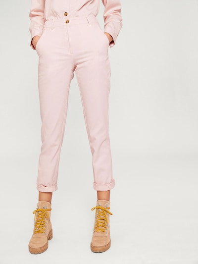 EDITED Pantalon 'Elena' en rose / rose, Vue avec modèle
