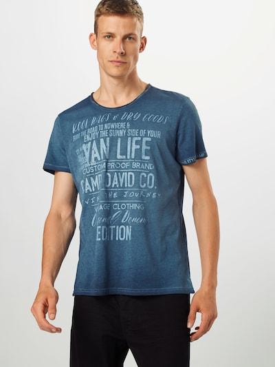 CAMP DAVID Shirt in de kleur Smoky blue / Donkerblauw: Vooraanzicht