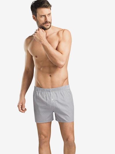 Hanro Boxershorts 'Fancy Woven' in grau, Modelansicht
