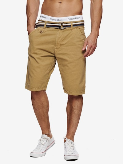 INDICODE JEANS Shorts 'Cuba' in camel: Frontalansicht