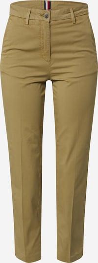 Pantaloni 'GMD COTTON TENCEL SLIM PANT' TOMMY HILFIGER pe oliv, Vizualizare produs