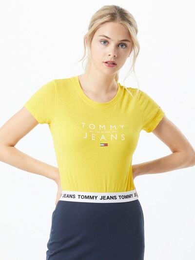 sárga / piros / fehér Tommy Jeans Póló, Modell nézet