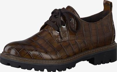 MARCO TOZZI Chaussure à lacets en brun foncé, Vue avec produit