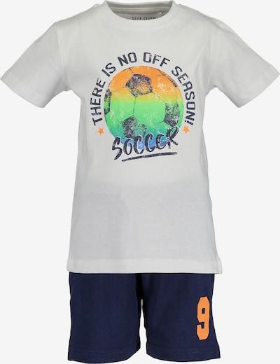 BLUE SEVEN Set T-Shirt+Shorts in weiß, Produktansicht