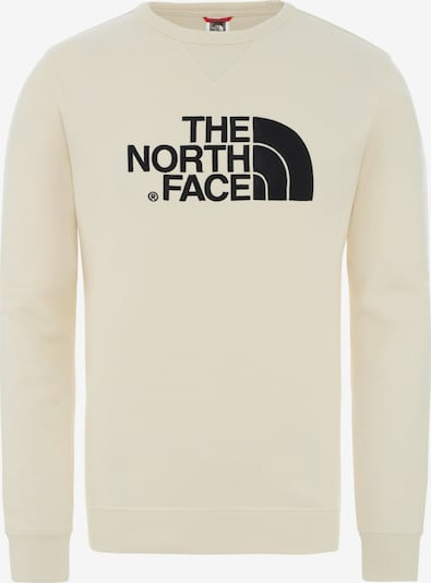 THE NORTH FACE Sweater 'Drew Peak Crew' in schwarz / weiß, Produktansicht