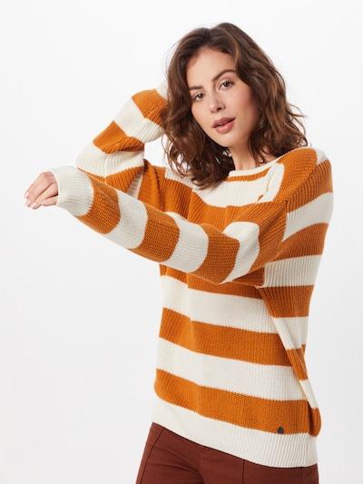 Blend She Pullover 'BSPIMKA L PU' in braun / weiß, Modelansicht