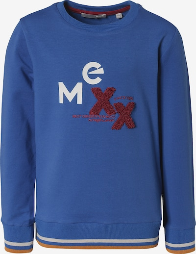 MEXX Sweatshirt in blau / goldgelb / dunkelrot / weiß, Produktansicht