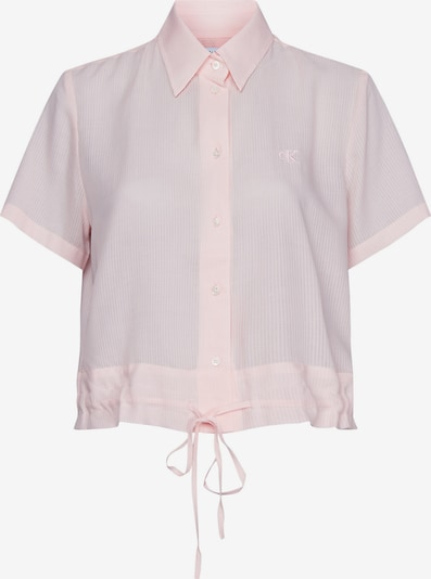Calvin Klein Short Sleeve Drawstring Shirt in hellpink, Produktansicht