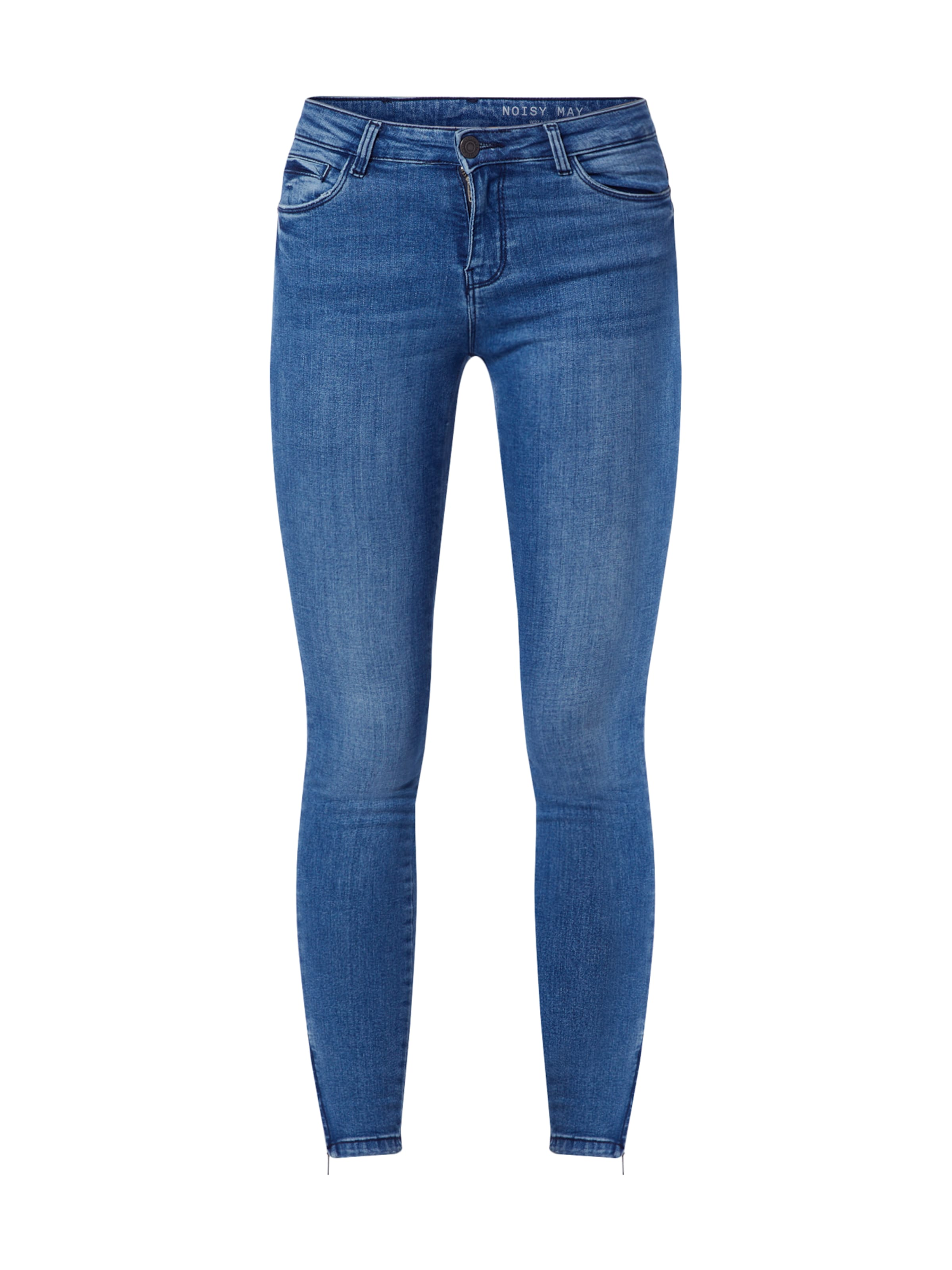 Noisy may Jeans 'NMKIMMY NW ANKLE ZIP JEANS' i blå denim