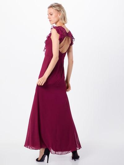 Vakarinė suknelė iš SWING , spalva - vyno raudona spalva: Vaizdas iš galinės pusės