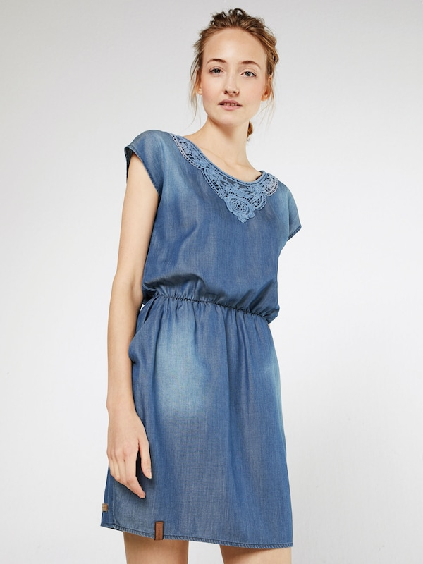 naketano 'Omi goes to Hollywood IV' Dress in blue denim, Modelansicht