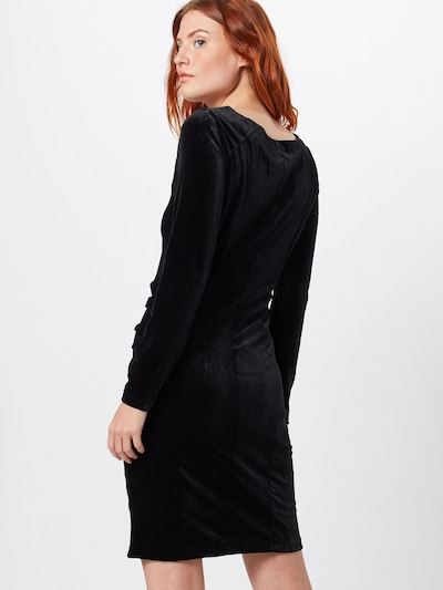 Kaffe Koktejl obleka 'Kelly dress' | črna barva: Pogled od zadnje strani