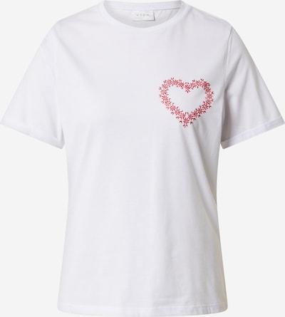 VILA Shirt  'VIJULINE' in rot / weiß, Produktansicht