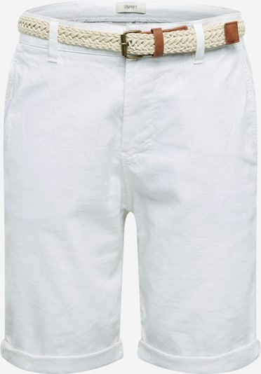 Pantaloni eleganți 'F BASIC CO/LI' ESPRIT pe alb, Vizualizare produs