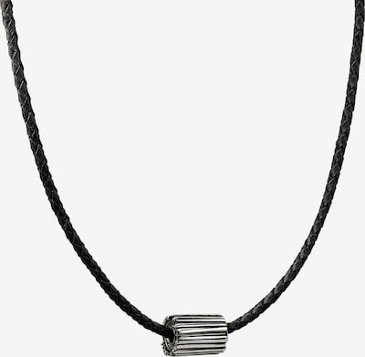 Baldessarini Baldessarini Herren-Kette Leder, 925er Silber ' ' in schwarz / silber, Produktansicht