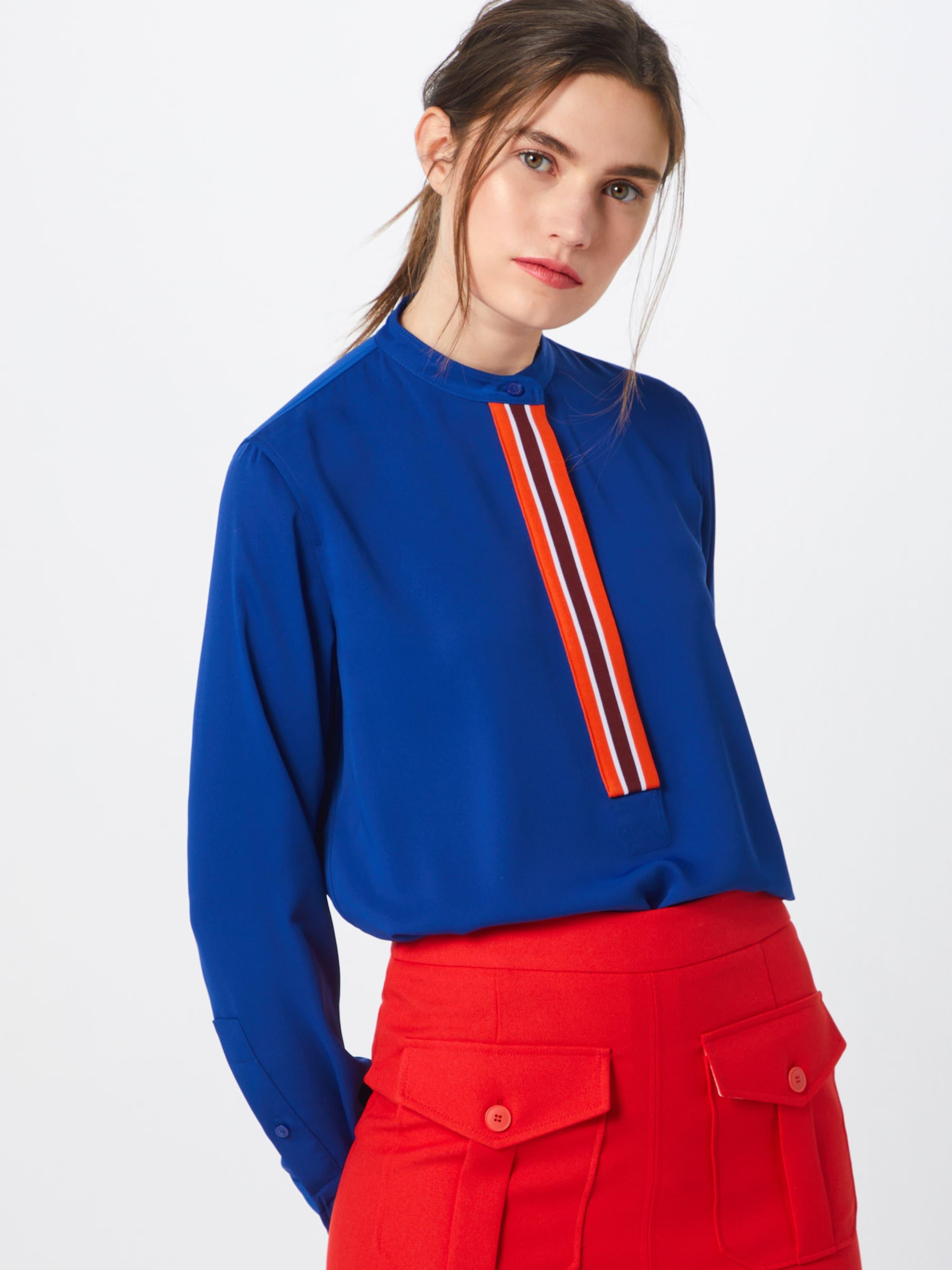 Detail' Calvin Klein Bluse 'placket In Blau mN8vn0wyO