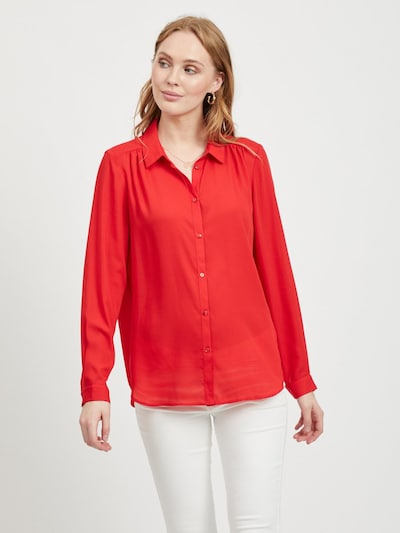VILA Blouse in de kleur Rood: Vooraanzicht