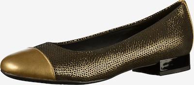 GEOX Ballerinas in gold / schwarz, Produktansicht