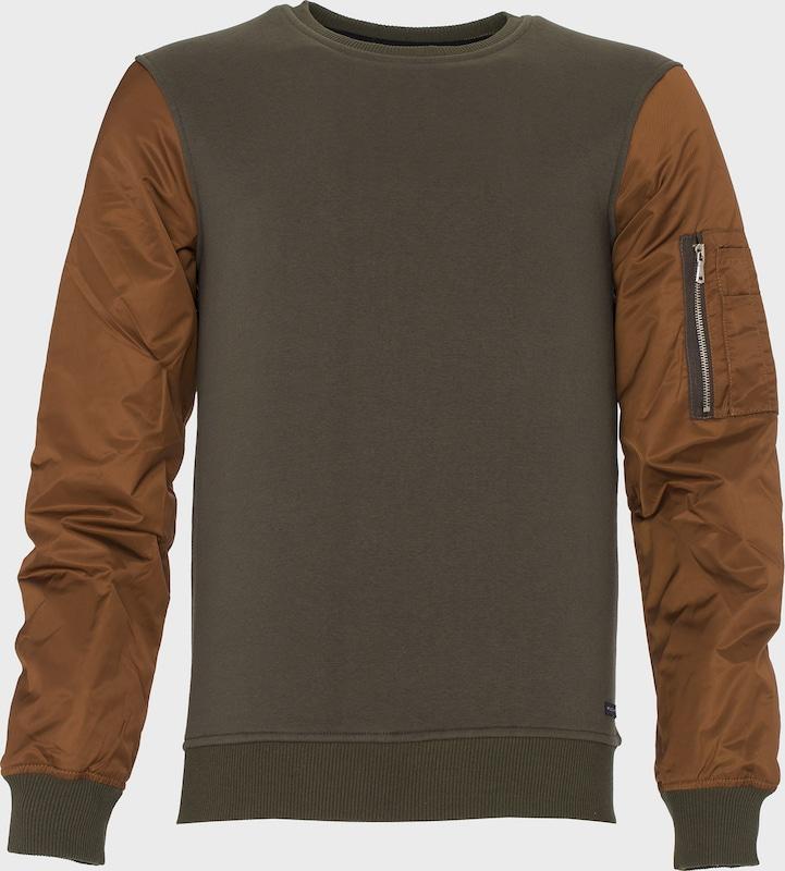 PLUS EIGHTEEN Sweatshirt in braun   khaki  Neu in diesem Quartal