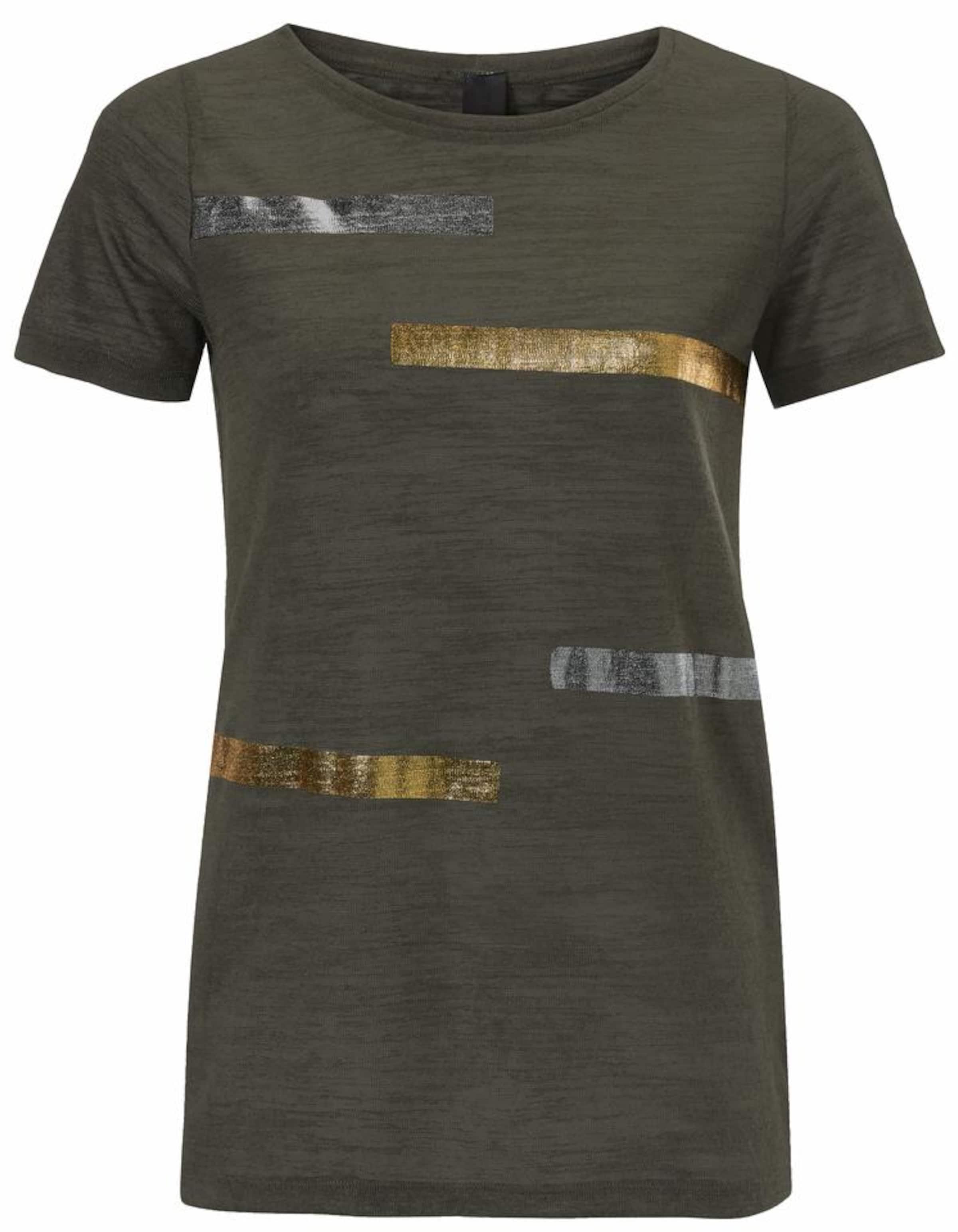 GoldOliv Print Streifen Silber Rundhalsshirt Mit In Heine 29IEDH