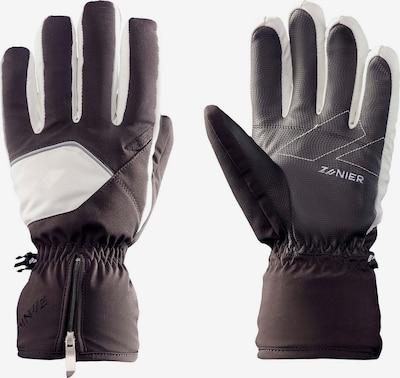 Zanier Fingerhandschuhe in schwarz / weiß, Produktansicht