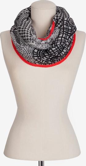 CODELLO Schal in grau / rot / schwarz, Produktansicht