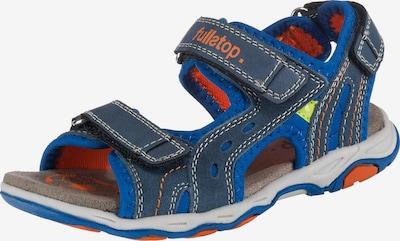 fullstop. Sandalen in blau / grau, Produktansicht