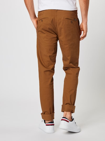 SCOTCH & SODA Pantalon chino 'Stuart' en camel: Vue de dos