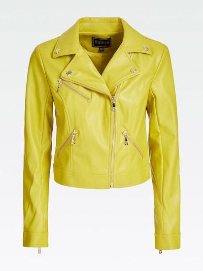 GUESS Bikerjacke in gelb, Produktansicht