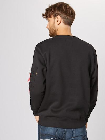 Bluză de molton 'NASA Reflective' ALPHA INDUSTRIES pe gri / negru: Privire spate