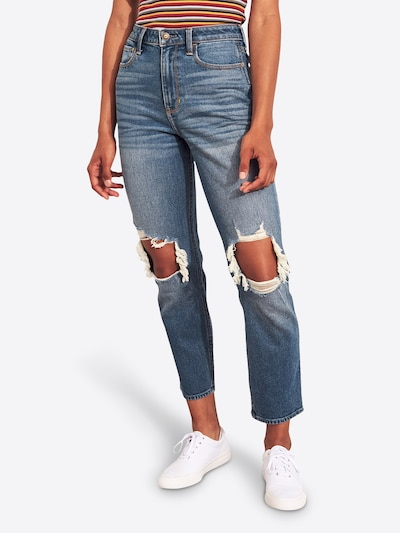 HOLLISTER Jeans 'MD/DK KNEEBO E-34-1288' in blue denim, Modelansicht