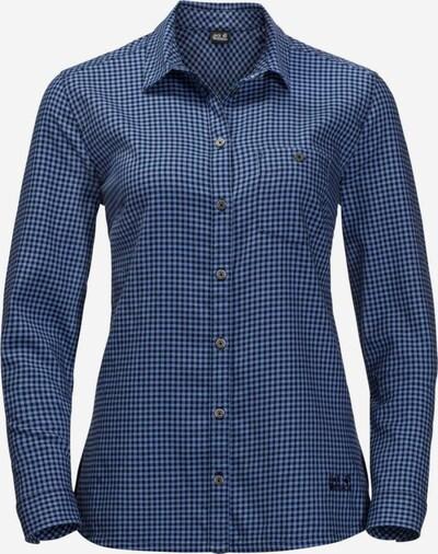 JACK WOLFSKIN Hemd in kobaltblau / royalblau, Produktansicht