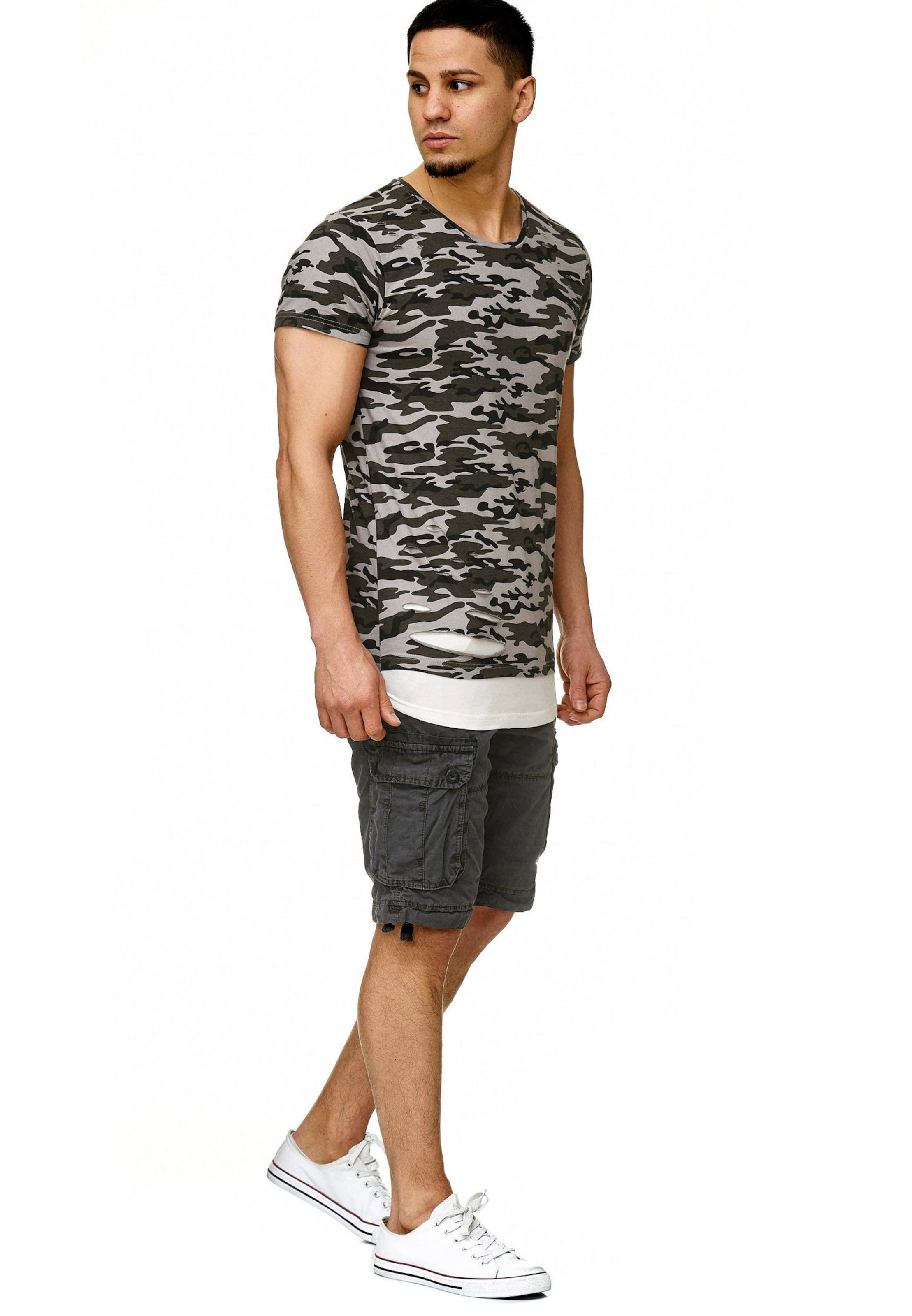 Indicode 'lund' En Jeans GrisBasalte shirt Noir T 4j5L3RAq