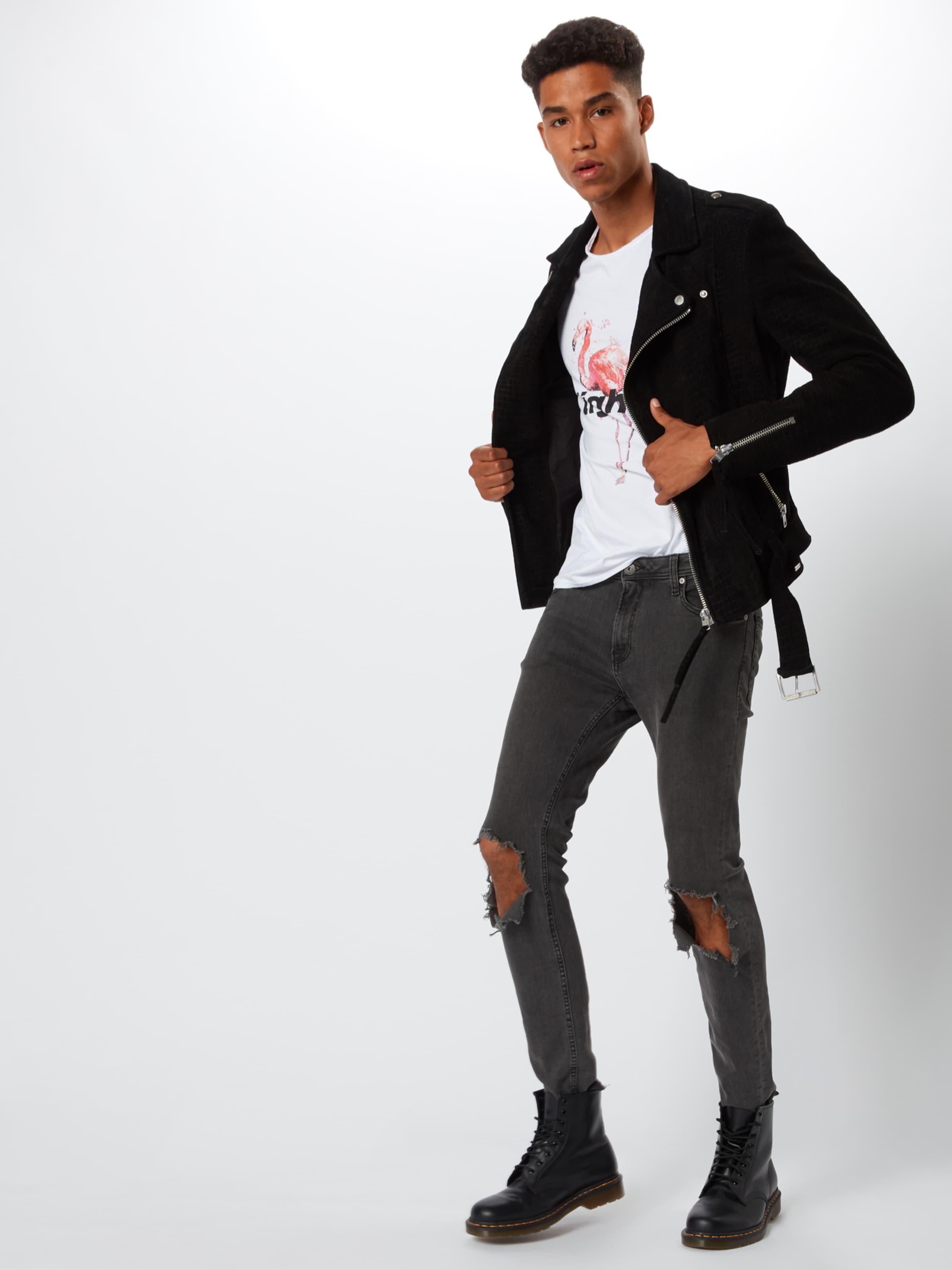 Shirt RosaSchwarz 'flamingo Msn' In Weiß Tigha 8Xn0PkOw