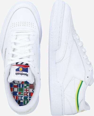 Reebok Classic Sneaker 'CLUB C 85 MU' in gelb grün weiß