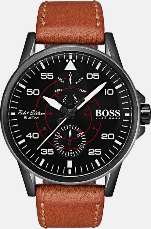 BOSS Boss Multifunktionsuhr »AVIATOR, 1513517«