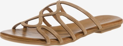 INUOVO Pantolette in gold: Frontalansicht