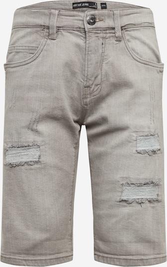 INDICODE JEANS Jeans 'Kaden Holes' in de kleur Lichtgrijs, Productweergave