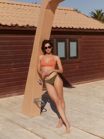 Green Orange Swimwear Look