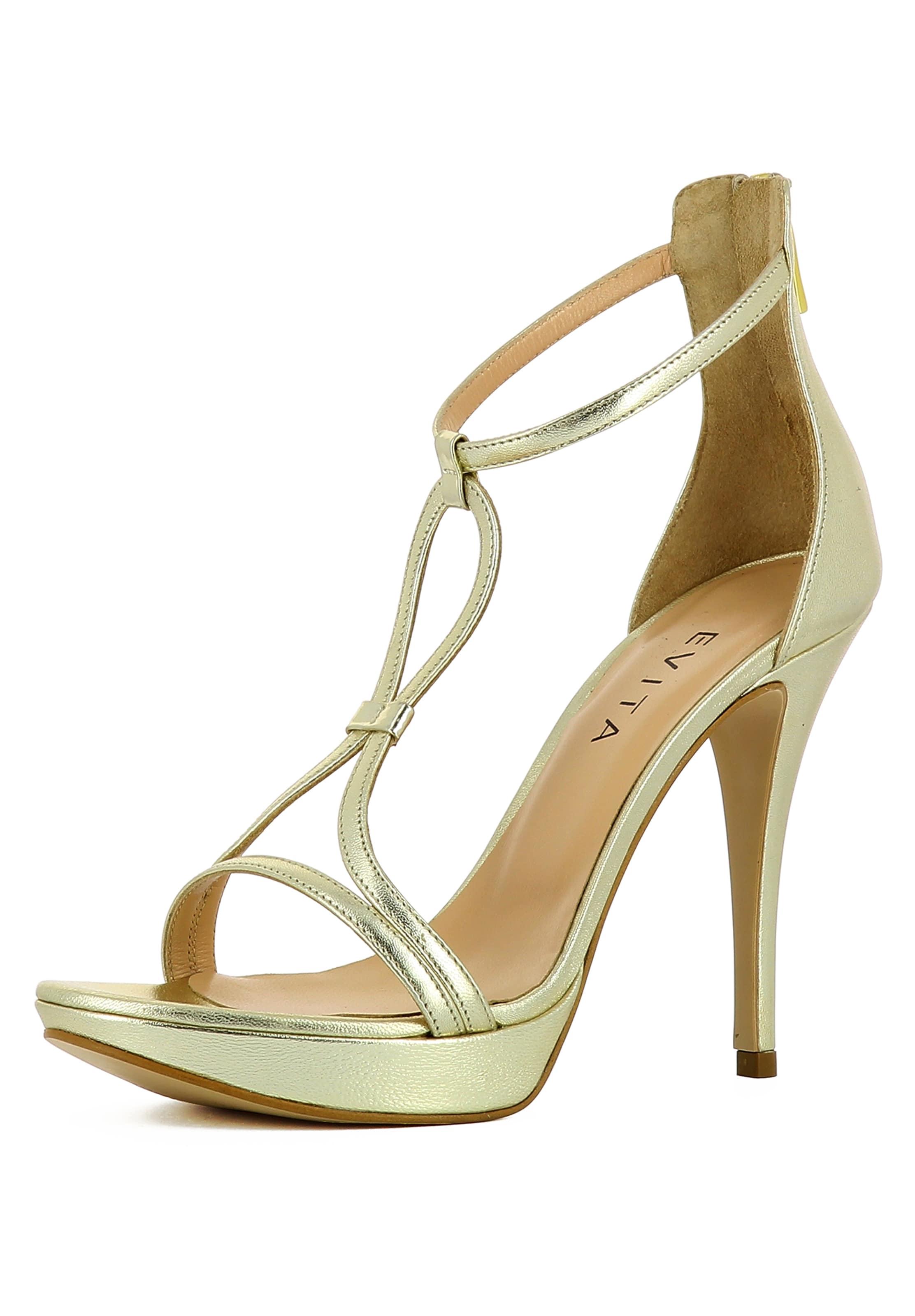 Sandalette Damen Gold Evita In Evita 45jARL