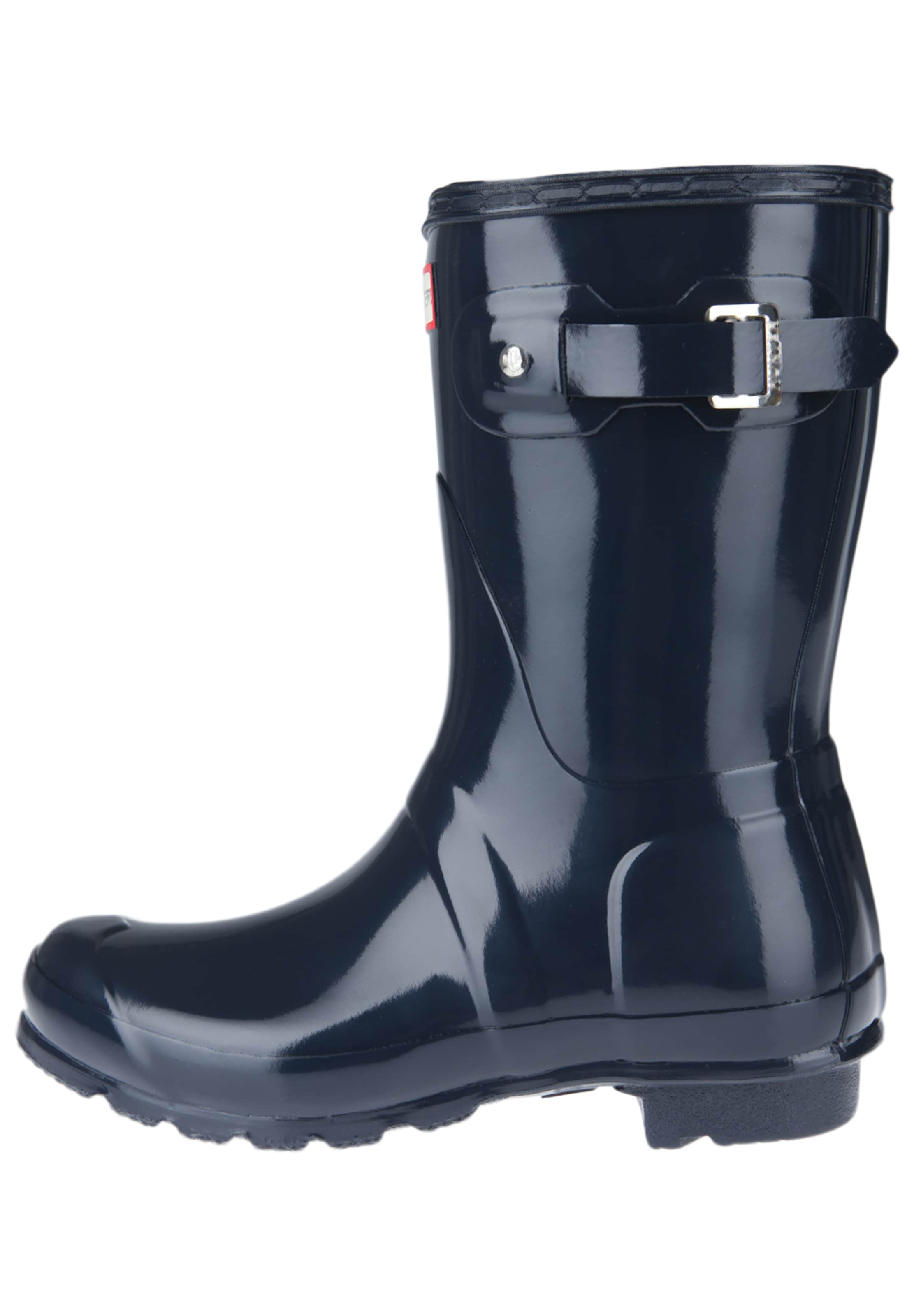 HUNTER Stiefel 'Wmn Org Short Gloss' nachtblau
