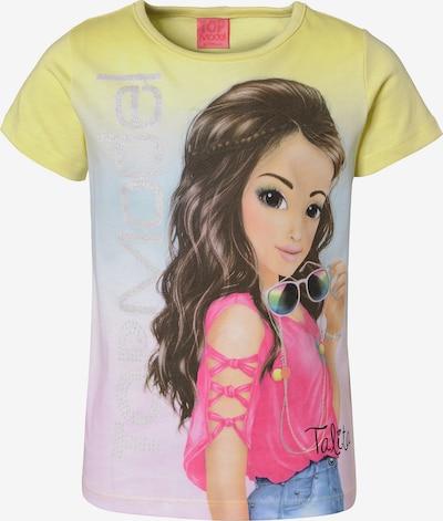 TOP MODEL T-Shirt 'Top Model' in gelb / mischfarben, Produktansicht
