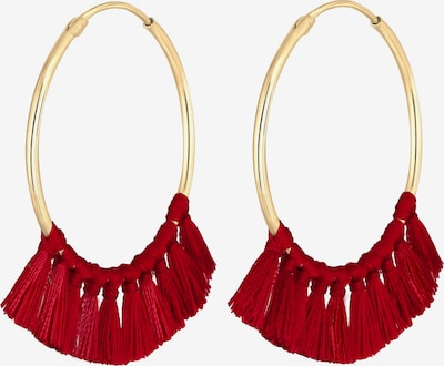 ELLI Earrings in Gold / Red, Item view