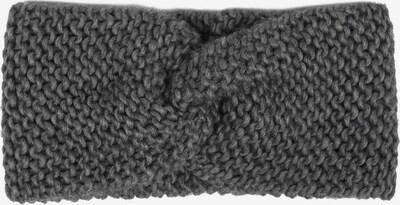 Zwillingsherz Stirnband 'Grobstrick Breit' in anthrazit, Produktansicht