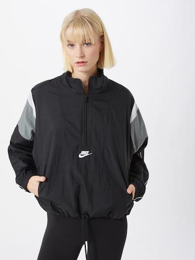 Nike Sportswear Přechodná bunda - černá: Pohled zepředu