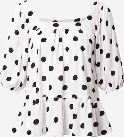 SISTERS POINT Bluse 'ISMA' in schwarz / weiß: Frontalansicht