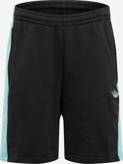 ADIDAS ORIGINALS Shorts 'Panel Trefoil' in hellblau / schwarz, Produktansicht