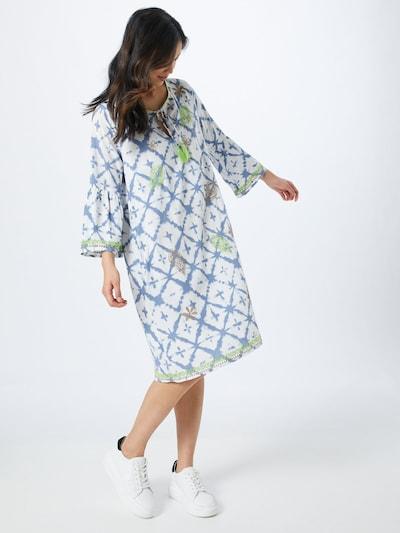 LIEBLINGSSTÜCK Kleid in blau / braun / grün / weiß, Modelansicht